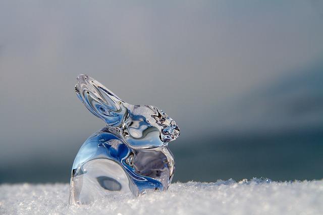 skleněný zajíc