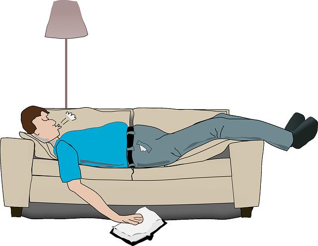 lampa, muž, sedačka, odpočinek
