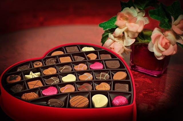 bonboniéra na den svatého valentýna