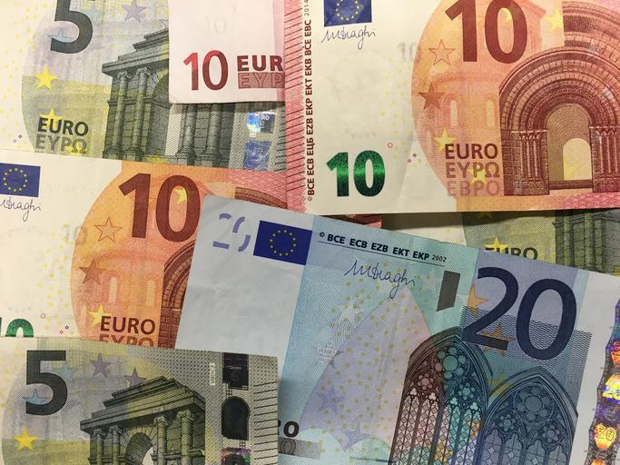 evropské bankovky