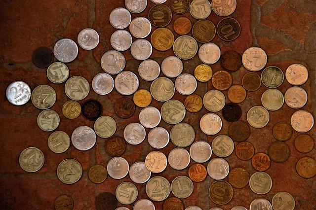 drobné malé mince
