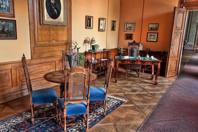 krásný interiér zámku Lednice
