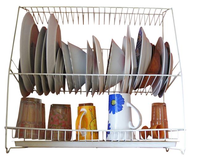 prádlo připravené na odkapávači