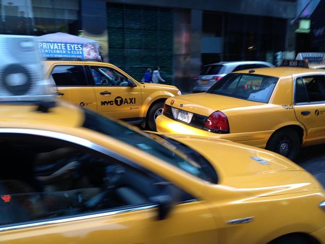 jedoucí taxi
